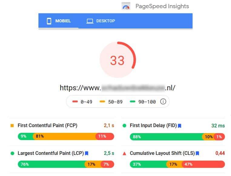 Google Page Speed laat zien hoe goed jouw website presteert qua snelheid