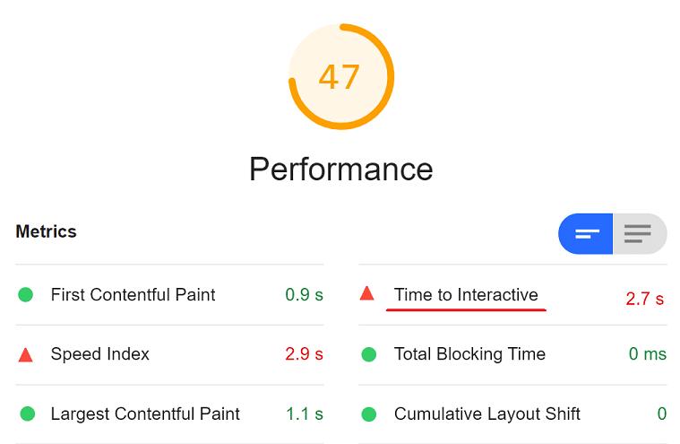 first input delay voorbeeld